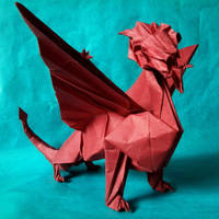 Origami Zing Dragon by John Szinger by PeteriDish