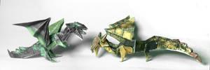 Double blintz fold dragons by PeteriDish