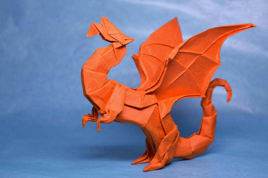 Origami birthday dragon by PeteriDish