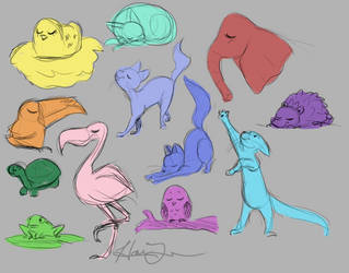 Animals by trujayy