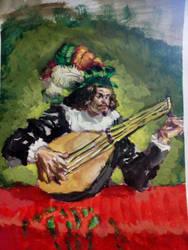 Study of Mandolin Playing Guy by CosminGX