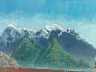 Mountains near Rasnov by CosminGX