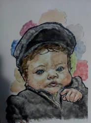 Watercolor Baby by CosminGX