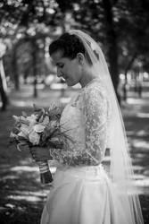 Bori on her wedding day, July 2017 (II) by esztervaly