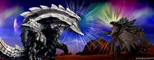 Monster Hunter - Ukanlos vs Akantor by cyevidal10