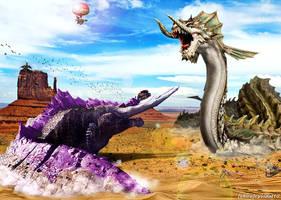 Monster Hunter - Jhen Mohran vs Raviente by cyevidal10
