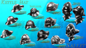 Medieval Helms 1.2 -color by monchiken