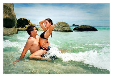 Loving the beach by H6RM
