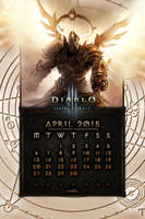 Calendar Mobile #6: April 2015 - EU Style by Holyknight3000