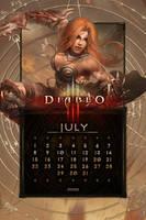 Calendar Mobile #9: Universal July by Holyknight3000