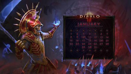 Calendar #35: Uni January: Necromancer vs Diablo by Holyknight3000