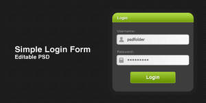 Simple Login Form by thearslan