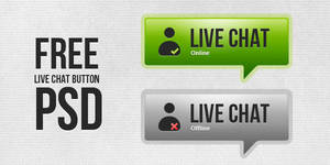 Free PSD: Live Chat Button by thearslan
