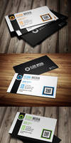 Free PSD: Flow Business Cards in 3 Colors by thearslan
