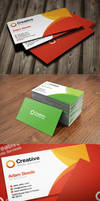 Free PSD: Creative Media Business Cards in 2 Color by thearslan