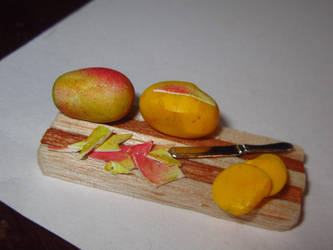 Miniature Mango Peeling by sonickingscrewdriver