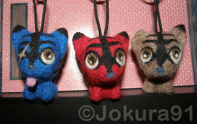 Kai Brothers as chibi_Needle felted key chains by Jokura91