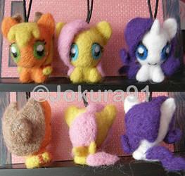 My Little Pony_Needle felted key chains (1) by Jokura91