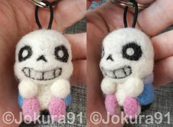 Undertale Sans - Needle felted keychain by Jokura91