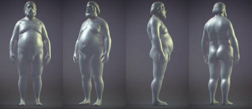 quick shape - fat male by JackZhang