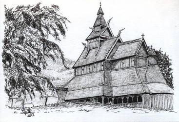 Hopperstad stavkirke by Norsk-skog