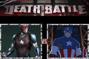 Death Battle|Citizen Steel VS Captain America by JackSkellington416