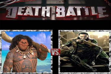 Death Battle|Maui VS Loki Laufeyson by JackSkellington416