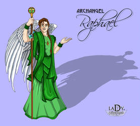 Archangel Refael by L7A by lady7archangels