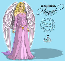 Archangel Hanael by L7A by lady7archangels
