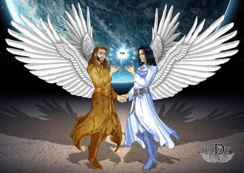 Archangel Sandalfon and Metatron by L7A by lady7archangels