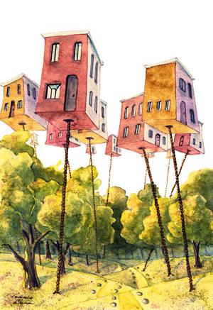 Flying city by TommieGlenn