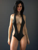 Sunny Swimsuit Black by eleleoke