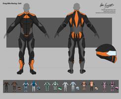 Uni Major Project - Drag Racing Bike Suit by NukaPooka