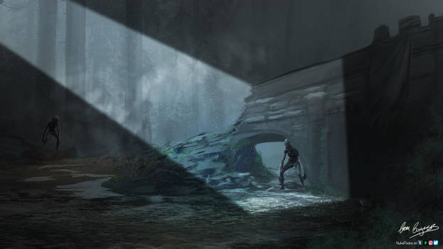 University Major Project - Ghoul Bridge (Witcher) by NukaPooka
