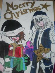 Sora and Riku Christmas by Kairica