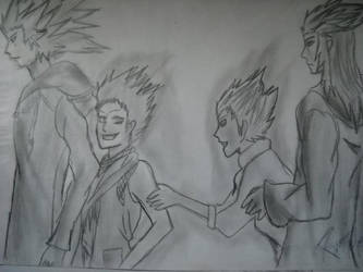 Axel and Saix or Lea and Isa - We were friends by Kairica