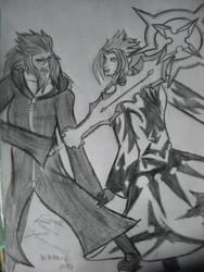 Saix and Xemnas by Kairica