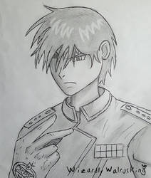 Inktober Day #11 - Cruel - Feat. Col. Roy Mustang by WizardlyWalrusKing