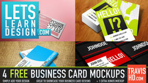 5 Free Business Card Mockup Templates by ShindaTravis