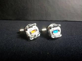 Wheatley and Space Core Custom Cufflinks by CJEgglishaw