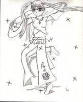 Girl dancing by Saenda