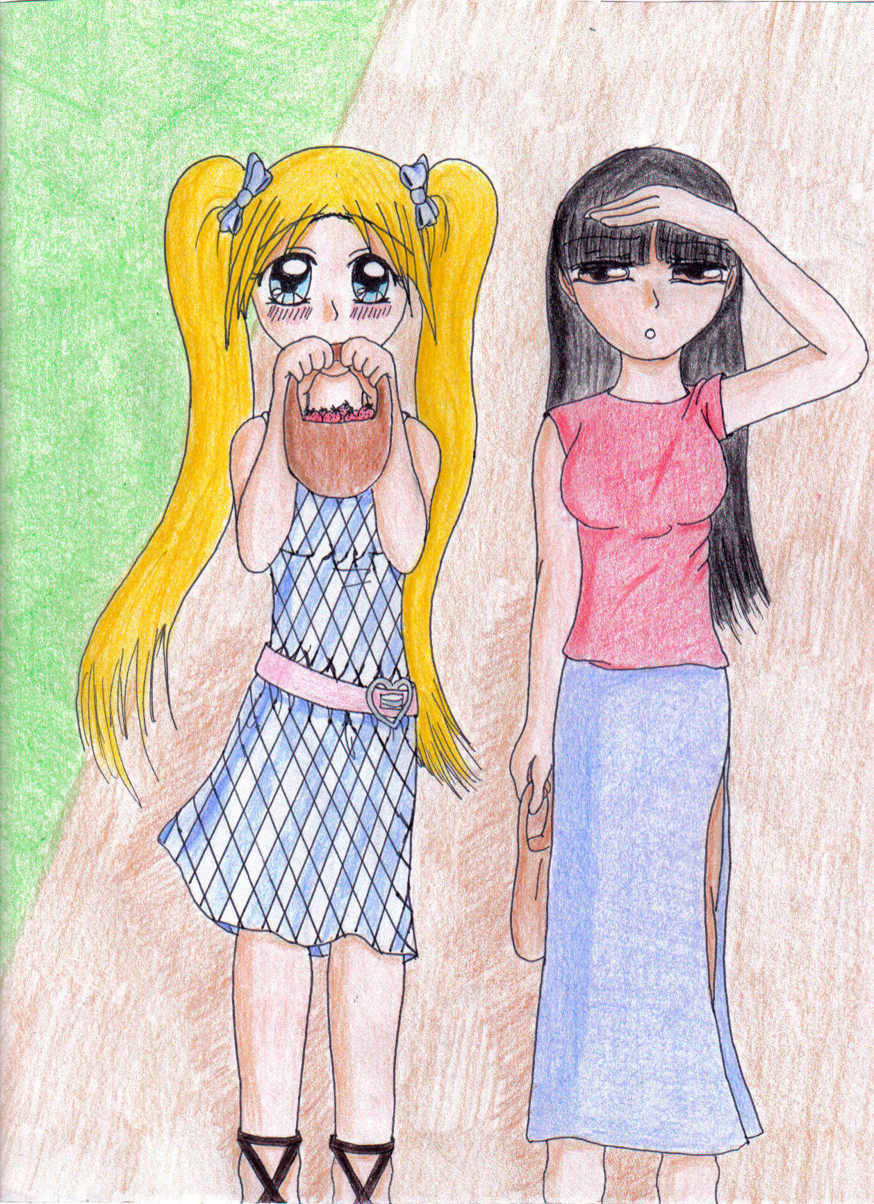 Tsuru and Maiko by Saenda