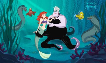 Friendly Villains #3 - The little mermaid by Precia-T