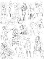 Female anatomy, poses 2 (Targa) by Precia-T