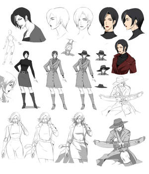 Commision: Character sheet, Reaper by Precia-T