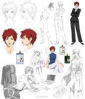 Punk businesswoman design, Ark (commision) by Precia-T