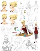Scientist  woman design , Celista (commision) by Precia-T