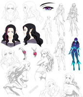 Elf teenage girl design, Kerri (Commision by Precia-T