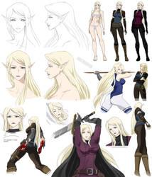 TARGA - the main character design (Nebula) by Precia-T