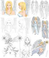 Angel design - Daphne (commission) by Precia-T